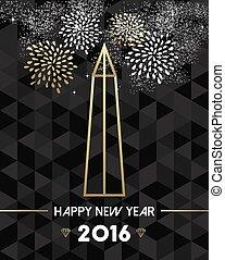 año nuevo, 2016, washington, estados unidos de américa, viaje