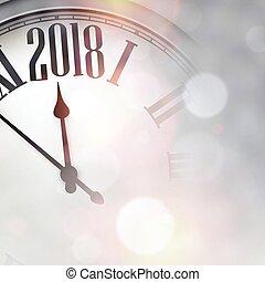 año nuevo, 2018, fondo.