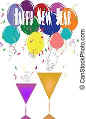 año nuevo, anuncio