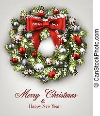 año nuevo, card., navidad