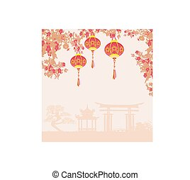 año nuevo chino, design.
