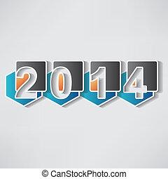 año nuevo, creativo, feliz