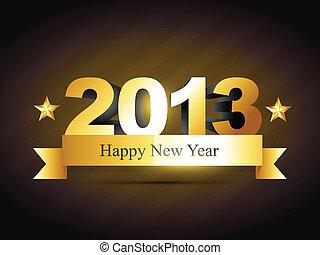 año nuevo, diseño, creativo, feliz