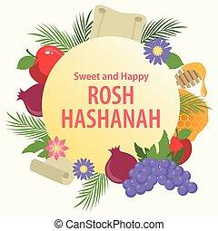 año, nuevo, judío, rosh hashanah