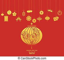 año nuevo, linterna china