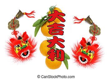 año nuevo, saludos, chino, lunar