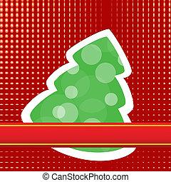 año nuevo, y, tarjeta de navidad, plantilla