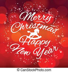 año, saludo, nuevo, 2014, tarjeta, feliz