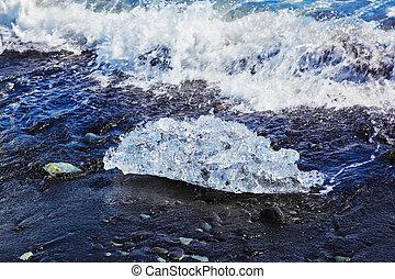 a, ártico, ocean., islândia