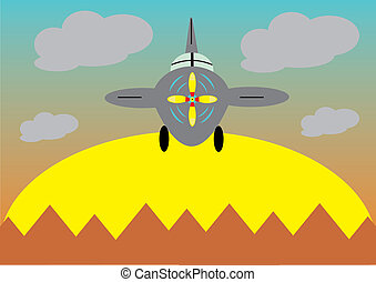 a, öreg, repülőgép