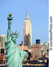 a, új york város, midtown, láthatár