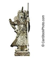 a, ősi, kínai, harcos, szobrok