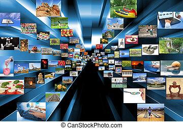 a, מיגוון, של, צילומים, כפי, רקע