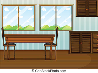 a, きれいにしなさい, 食堂