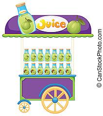 a, グアバ, 果物ジュース, カート