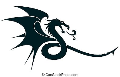 a, ドラゴン, シンボル。