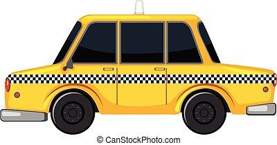 a, ニューヨーク, スタイル, タクシー