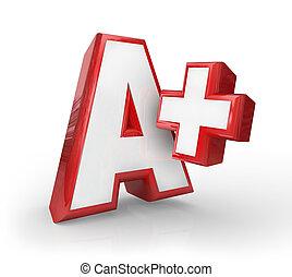 a+, プラス, 偉人, 等級, スコア, フィードバック, 上, 評価