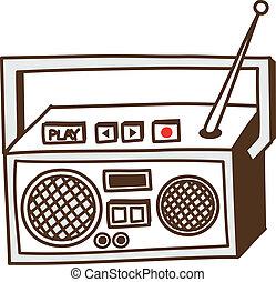 a, ラジオ