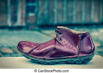 a, 単一, shoe.