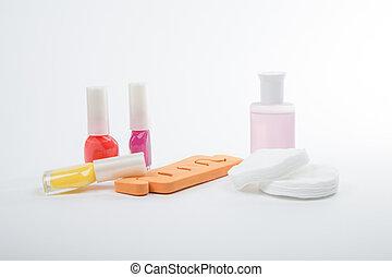 a, 品种, 在中, 工具, 为, manicure., the, 钉子, care.