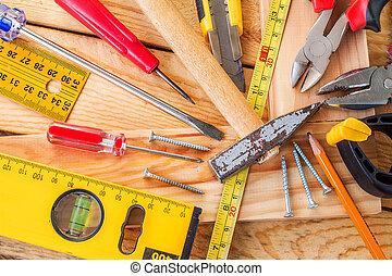 a, 品种, 在中, 工具, 在上, 树木