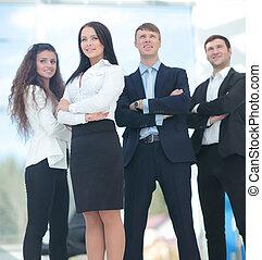 a, 团体, 在中, 成功, 商务人士