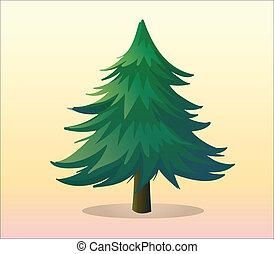 a, 大きい, 松の木