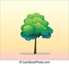 a, 大的树