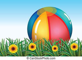 a, 大, 可膨脹的球, 在, the, 天空