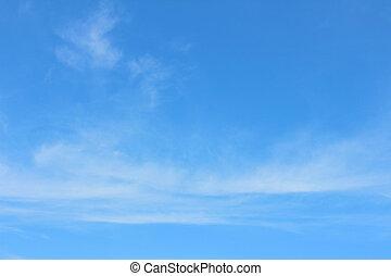 a, 天空, 表面, 由于, 小, 雲