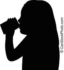 a, 子供, 飲料水
