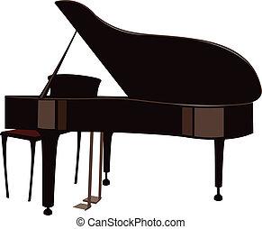 a, 宏大的鋼琴