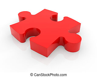 a, 小片, の, ジグソーパズル