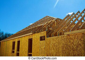 a, 新しい 家, 建設 中