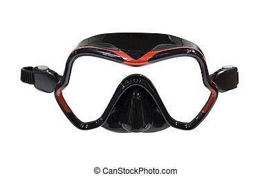 a, 潛水面具, 被隔离, 上, a, 白色 背景