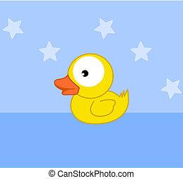 a, 玩具, 小鴨, 洗澡