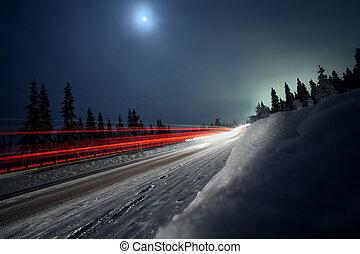 a, 田舎の道路, 中に, スウェーデン