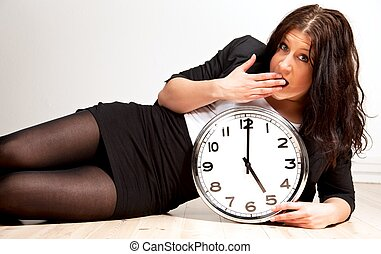 a, 疲れた, 女性の保有物, a, 時計