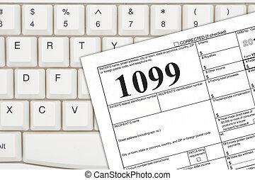 a, 私達, 連邦である, 税, 1099, 所得税, 形態