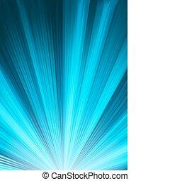 a, 蓝色, 颜色设计, 带, a, burst., eps, 8