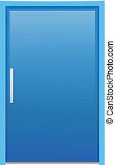 a, 藍色的門