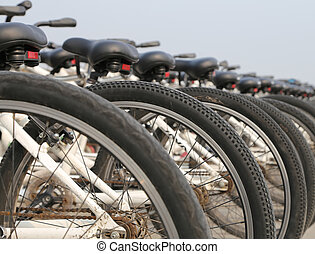 a, 行, 在中, bicycles