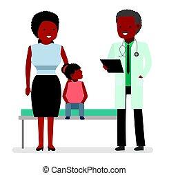 a, 訪問, 到, the, 醫生。, 博士, 說, the, 好消息, the, 母親, ......的, the, 孩子, 女孩, ......的, a, 醫院, patient.