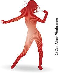 a, 跳舞, 婦女
