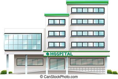 a, 醫院, 建築物