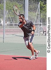 a, 게임, 테니스