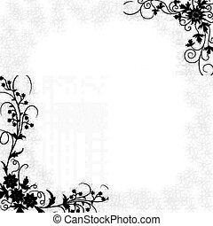 a, 꽃 국경