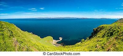 a, 보이는 상태, 의, 그만큼, 소리, 의, raasay, 에서, 그만큼, skye의 섬, 와, 그만큼, 섬, rona, 와..., raasay, 에서, 배경, 스코틀랜드