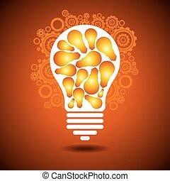a, 빛을내는 전구, 은 설치한다